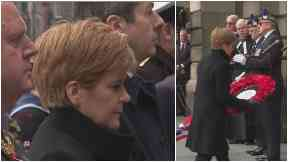 First Minister Nicola Sturgeon lays wreath on Remembrance Sunday November 2019
