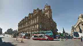 Balmoral Hotel: Pedestrian was knocked down by taxi.