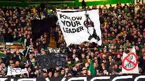 Celtic mussolini banner lazio