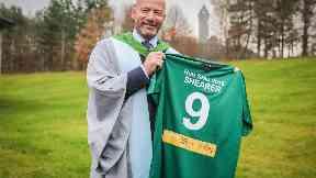 Alan Shearer: England legend 'deeply honoured' by award.