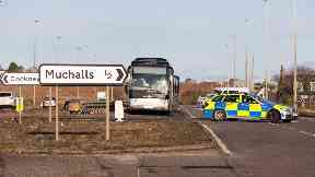 Pedestrian dies after being hit by bus on A92 December 8 2019