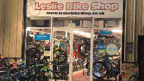 Raided: Leslie Bike Shop was targeted by thieves.