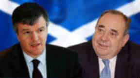 Clash: Salmond and Moore disagree on terms of referendum