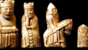 Lewis Chessmen: on display in Aberdeen