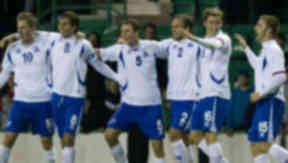 Iceland's under 21s celebrate