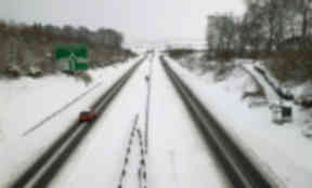 Snow: The road is prone to experiencing heavy snowfall in the winter.