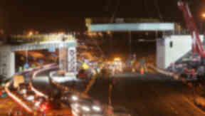 New road: Mollinsburn interchange under construction.