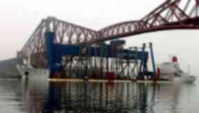 Goliath: The boat was weighed down to make sure the large cargo fitted underneath the bridges.