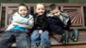 Family project: Jack has had help from his brother's Toby and Noah.
