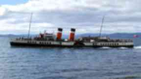 Waverley: The boat is the last seagoing paddle steamer in use.