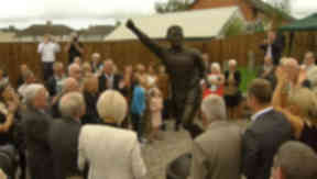 Remembered: Jinky Johnstone grew up yards from the statue's location.