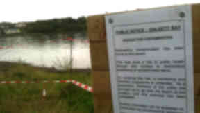 Dalgety Bay: The beach clean-up has been delayed.