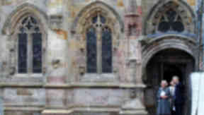 Camilla Duchess of Cornwall visits Rosslyn Chapel.