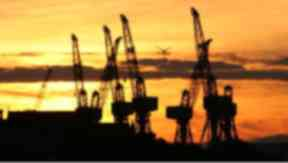 Clyde cranes: Glasgow's shipbuilding industry is largely a thing of yesteryear.