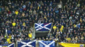 Tartan Army with flags