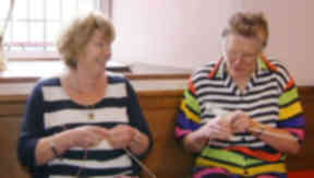 Aberdeenshire knitters making jumpers for babies in malawi