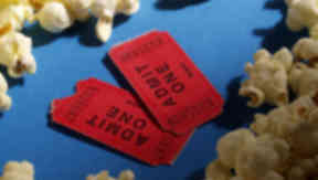 Cinema tickets and popcorn QUALITY