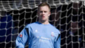 Grant Adam playing for Airdrie United in the 2012/13 season.