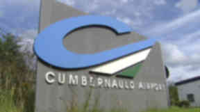 Cumbernauld Airport: Both helicopters were carrying passengers (file pic).