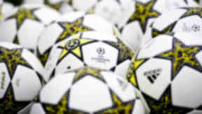 Champions League balls for the 2012/13 season.