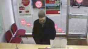 CCTV of Jim Blair Insurance robbery.