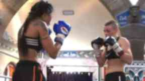 Joanne Calderwood and Jenny Krigsman, Oran Mor Fight