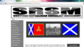 Scottish Socialist Republican Movement website grab