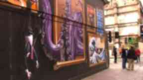 Argyle Street mural by street artist Smug.