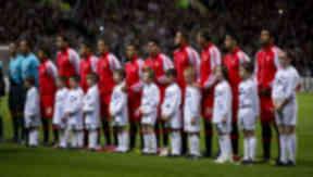 Benfica team v Celtic