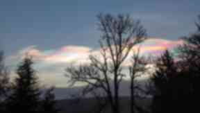 Rainbow Clouds: Nacreous clouds could bee seen as far as Inverness.