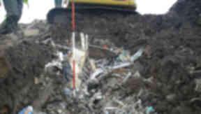 Waste dumped at Doonin Plant in West Lothian.
