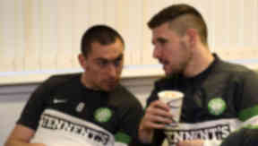 Scott Brown, Gary Hooper, Celtic, December 2012.