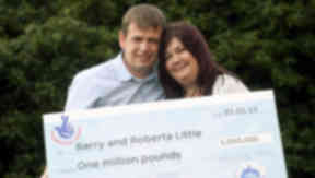 Barry and Roberta Little lottery winners.
