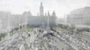 Entry Two for the controversial £15m redesign of Glasgow's George Square revealed on January 8 2013