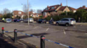 Scene of attempted abduction on Milgavnie Road in Bearsden GLasgow on Saturday February 2 2013