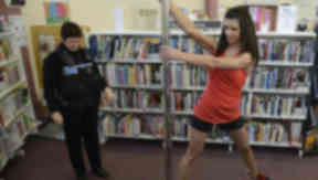 Pole dancing at Mayfield Library, Dalkeith.