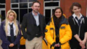 Craig Mathieson polar explorer at Hillhead High School.