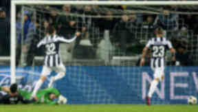 Juventus' Alessandro Matri (32) opens the scoring