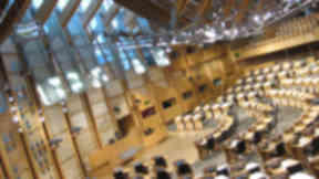 Holyrood: Police and fire services were called to the parliament.