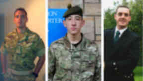 Corporal William Savage, 30, Fusilier Sam Flint, 21, and Private Robert Hetherington, dead soldiers from 2 Scots.