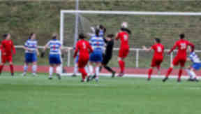 Ashley McDonald scores the winner for Hamilton Accies against Kilwinning.