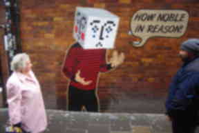 How Noble In Reason is part of Peter Drew's Hamlet Emoticon street art