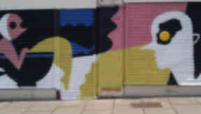 New look: Bernie Reid's creation on Leith Walk is the latest in the Shutter Project.