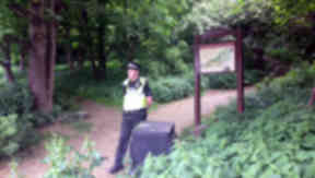 Corstorphine Hill where human remains were found buried in a shallow grave on June 7, 2013.