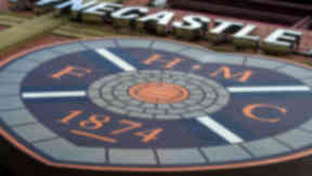 GV of Hearts badge at Tynecastle Stadium.
