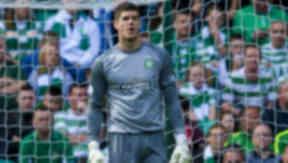 Fraser Forster in action for Celtic in August 2013.