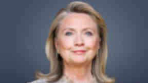 Former US Secretary of State Hillary Clinton.