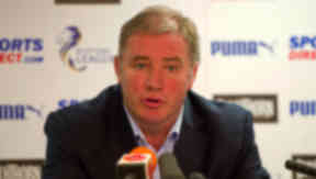 Rangers manager Ally McCoist speaks with the press as he previews the Scottish League One clash with Ayr Utd.
