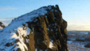 Holyrood Park: The rockfall was thought to have been caused by the weather.
