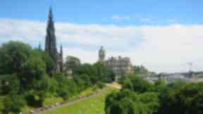 Princes Street Gardens: Drown flown over the beauty spot.